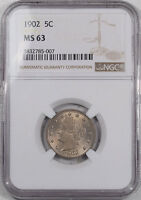 1902 LIBERTY NICKEL NGC MINT STATE 63, FROM THE REEDED EDGE