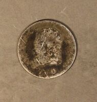 1830 BUST HALF DIME SILVER CIRCULATED OBVERSE SCRATCHES  FREE U.S. SHIPPING