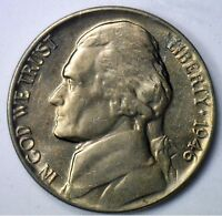 1946 JEFFERSON NICKEL UNC FIVE CENT CHOICE COIN FROM ROLL MADE IN USA