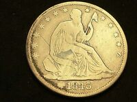 1843 O  SEATED  LIBERTY  HALF  DOLLAR  VG