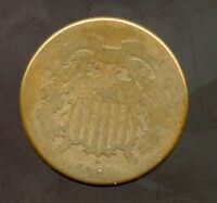 1864  2C TWO CENT PIECE AG