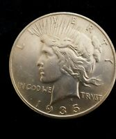 1 1935 P & 1 1935 S SILVER PEACE DOLLARS