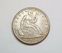 1849 O LIBERTY SEATED HALF DOLLAR EXTRA FINE SILVER 50 CENTS