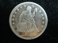 1856 O US SEATED LIBERTY QUARTER 25 CENT COIN
