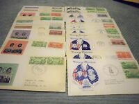 30 ARMY NAVY CACHETED FDCS 1936-37 6 SETS MATCHING CACHETS