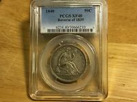 1840 REVERSE OF 1839 PCGS XF40 SEATED LIBERTY HALF DOLLAR PRE CIVIL WAR NICE