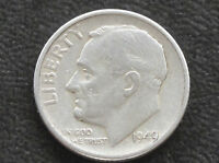 1949 S ROOSEVELT DIME 90 SILVER U.S. COIN D4249