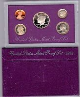 1989 S UNITED STATES MINT PROOF SET WITH BOX  5 PIECE SET