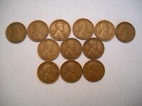 12 DIFFERNT LINCLON CENTS 1930 TO 1939