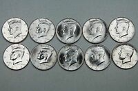2013 2014 2015 2016 2017 P & D KENNEDY HALF DOLLAR UNCIRCULATED MINT ROLL SET