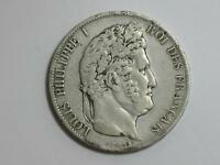 1846 A FRANCE 5 FRANCS   PARIS   LOUIS PHILIPPE   OLD SILVER WORLD COIN