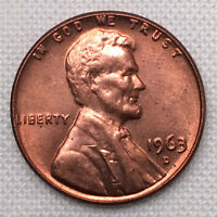 1963 D USA ONE CENT BU FROM ROLL   LINCOLN MEMORIAL    12 AVAILABLE FP25