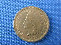 1907 U.S. INDIAN HEAD CENT COPPER PENNY COIN