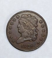 1828 CLASSIC HEAD HALF CENT WITH 13 STARS EXTRA FINE 1/2 CENT