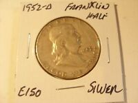 VERY NICE 1952 D SILVER FRANKLIN HALF DOLLAR CHECK OUT THE PICTURES E150