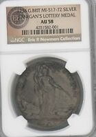 1736 JERNEGAN'S CISTERN MEDAL BETTS 169  GRADED AU58 BY NGC