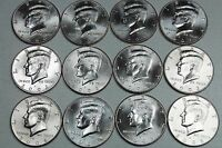 2000 2001 2002 2003 2004 2005 P  D UNCIRCULATED KENNEDY HALF MINT ROLL SET