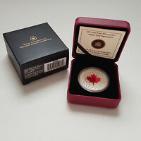 2013 $20 FINE SILVER COIN   MAPLE LEAF IMPRESSION