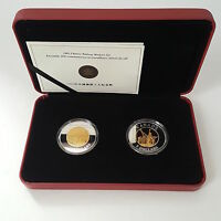 2005 $8 FINE SILVER TWO COIN SET   COMMEMORATION OF CHINESE RAILWAY WORKERS