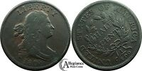 1808 1/2C DRAPED BUST HALF CENT VF DETAIL  OLD TYPE COIN LOVELY COLOR 1/2 C.