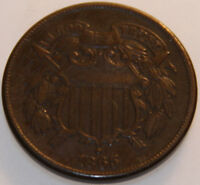 1865-P TWO CENT PIECE [SN14]