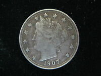 1907 LIBERTY V NICKLE FIVE CENT COIN