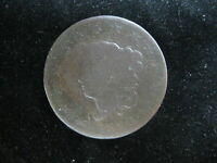 1820 US CORNET HEAD LARGE CENT ONE CENT COIN