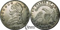 1835 50C CAPPED BUST HALF DOLLAR AU HIGH GRADE  OLD TYPE COIN MONEY O-105