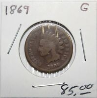1869 INDIAN HEAD CENT G