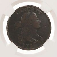 1797 DRAPED BUST 1C GRIPPED REV OF 95 S-120B NGC CERTIFIED VF20 BN US LARGE CENT