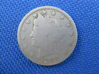 1888 U.S. 5 CENT LIBERTY V NICKEL COIN
