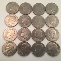 USA 1972 ONE DOLLAR EISENHOWER COIN GROUP OF 16 PIECES CIRCULATED