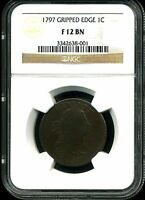 1797 1C DRAPED BUST LARGE CENT GRIPPED EDGE F12BN NGC 3342638-001