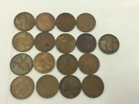 LOT OF 17 LINCOLN WHEAT CENT'S, FROM 1900.S -1930.S