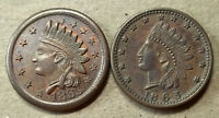 2 COMMON PATRIOTIC TOKENS IN UNCOMMON UNCIRCULATED CONDITION BOTH DATED 1863