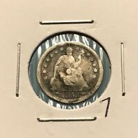 1853 H10C SEATED LIBERTY HALF DIME: MOUNT REMOVED 7
