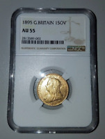 GREAT BRITAIN 1895 GOLD SOVEREIGN NGC/NCS AU 55