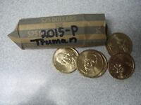 ROLL 25 COINS 2015-P PRESIDENT HARRY TRUMAN DOLLARS