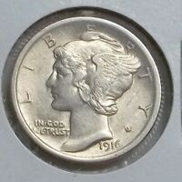 1916 P MERCURY DIME IN HIGHER CIRCULATED GRADE. NICE LUSTER LET'S DEAL