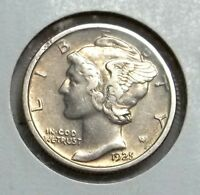 1925 P MERCURY DIME IN HIGHER CIRCULATED GRADE. TOUGHER DATE..LET'S DEAL