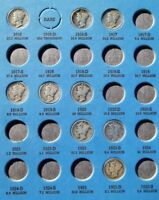 STARTER COLLECTION OF 30 MERCURY DIMES IN OLD WHITMAN FOLDER TAKE A LOOK SEE