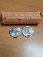 ONE WISCONSIN 2004 D STATE QUARTER ROLL CIRCULATED