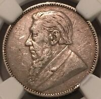 1892 SOUTH AFRICA 1 SHILLINGS NGC VF LARGE FOREIGN SILVER COIN