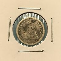 1854 H10C SEATED LIBERTY HALF DIME: HOLED AND PLUGGED