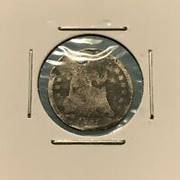 1855 H10C SEATED LIBERTY HALF DIME: HOLED