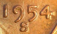 1954 S/S LINCOLN WHEAT PENNY CENT RPM 010