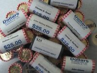 ROLL 25 COINS2008 PRESIDENT MARTIN VAN BUREN DOLLARS-BRINKS ROLL UNCIRCULATED.