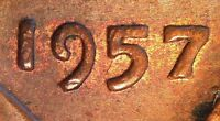 1957 LINCOLN WHEAT PENNY CENT DOUBLED DIE DDO 001 AU