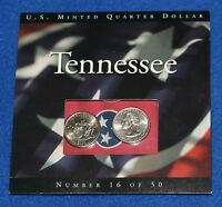 2002 TENNESSEE STATE QUARTER MINT SET P AND D IN DISPLAY FOLDER