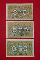 LITHUANIA 1991 0.10 0.20 0.50 TALONAS   UNCIRCULATED SET